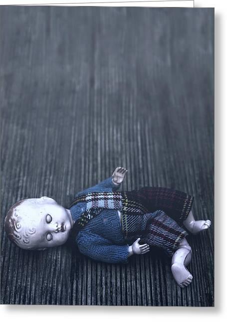 Broken Doll Greeting Card
