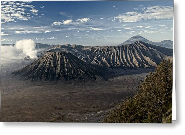 Bromo Mountain Greeting Card by Miguel Winterpacht