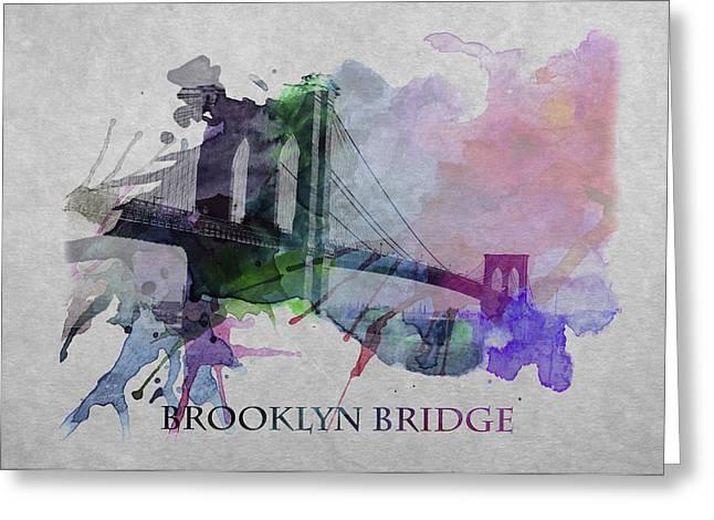 Brooklyn Bridge 2 Greeting Card by Steve K