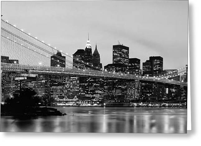 Brooklyn Bridge Across The East River Greeting Card