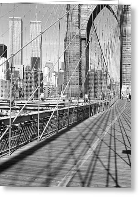 Brooklyn Bridge Manhattan New York City Greeting Card by Panoramic Images