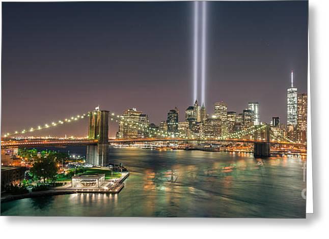 Brooklyn Bridge September 11 Greeting Card
