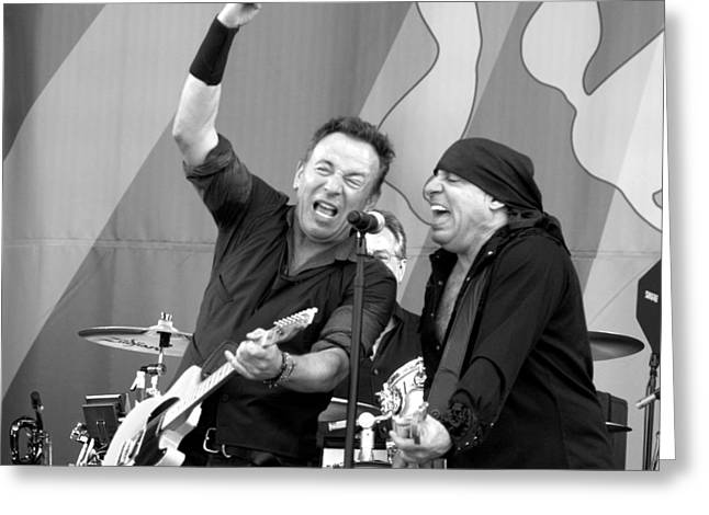 Bruce Springsteen 8 B/w Greeting Card