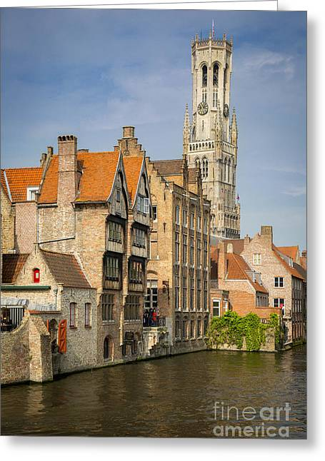 Bruges Canal Greeting Card by Brian Jannsen