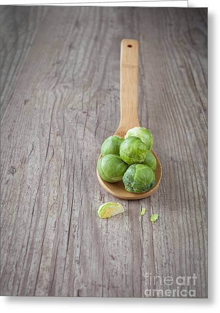 Bruxelles Sprouts Greeting Card by Sabino Parente