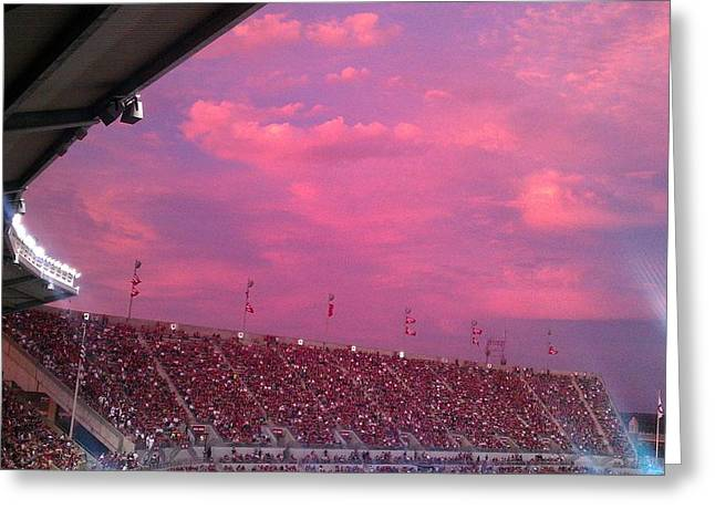 Bryant-denny Painted Sky Greeting Card