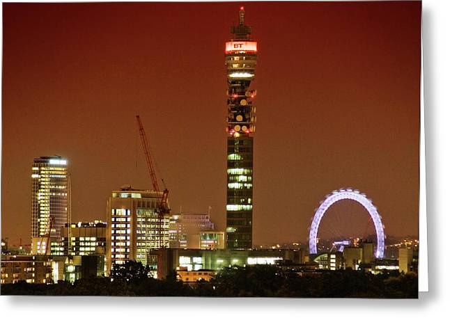 Bt Tower And The London Eye Greeting Card