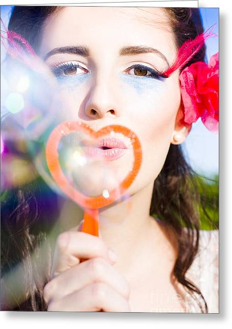 Bubble Kisses Greeting Card