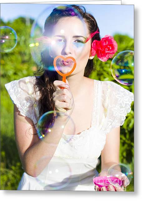 Bubbles Greeting Card by Jorgo Photography - Wall Art Gallery