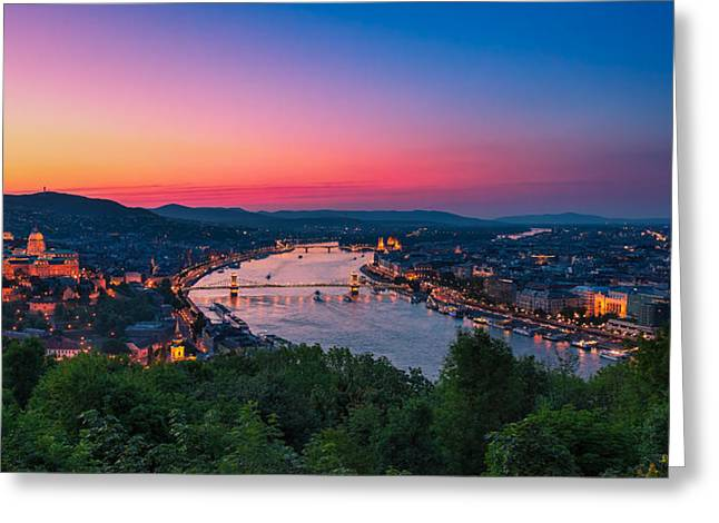 Budapest 03 Greeting Card by Tom Uhlenberg