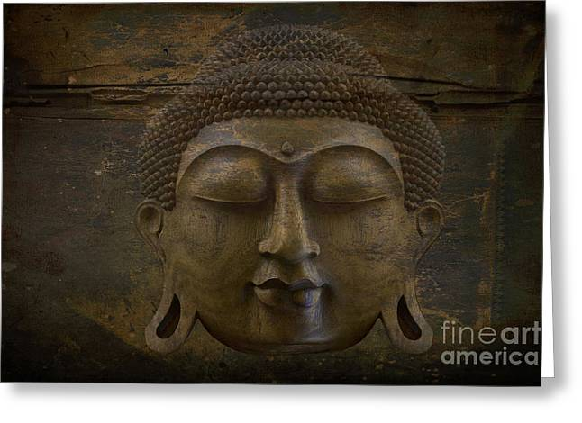 Buddha Greeting Card by Sharon Mau