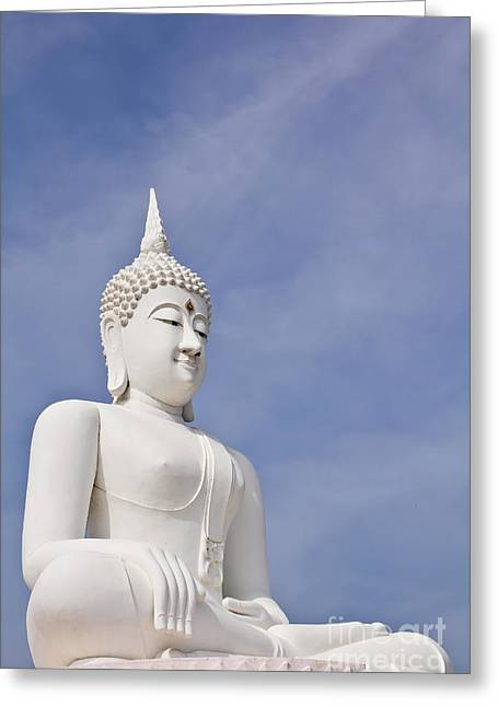 Buddha Statue Greeting Card by Tosporn Preede