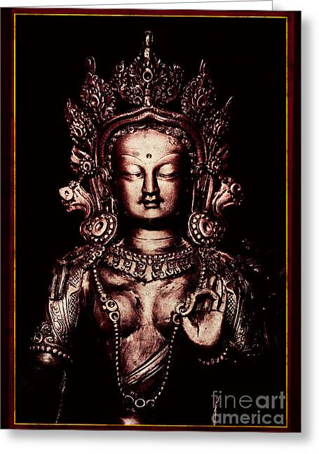 Buddhist Tara Deity Greeting Card by Tim Gainey