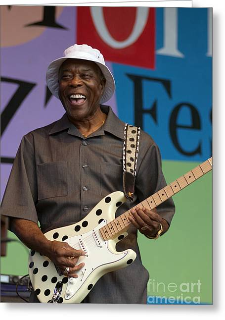 Buddy Guy Smiling Greeting Card by Craig Lovell