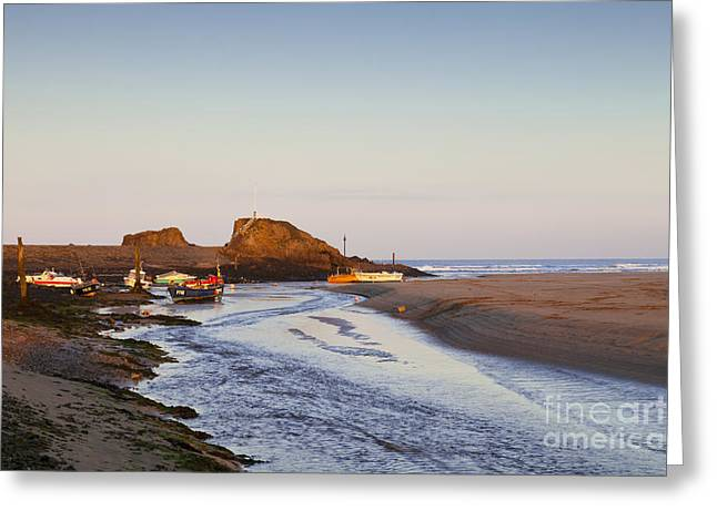 Bude Cornwall England Summerleaze Beach Greeting Card by Colin and Linda McKie