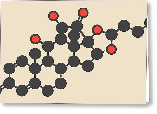 Budesonide Corticosteroid Drug Molecule Greeting Card