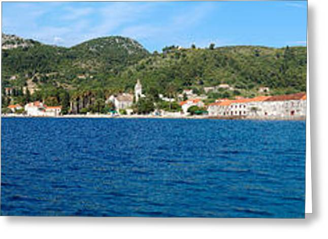 Buildings At The Waterfront, Adriatic Greeting Card by Panoramic Images