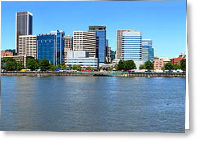 Buildings At The Waterfront, Portland Greeting Card