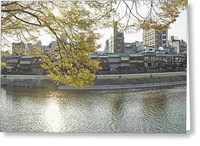 Buildings In A City At The Waterfront Greeting Card by Panoramic Images