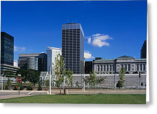 Buildings In A City, Cleveland, Ohio Greeting Card