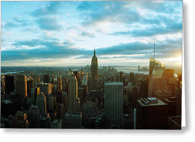 Buildings In A City, Empire State Greeting Card by Panoramic Images