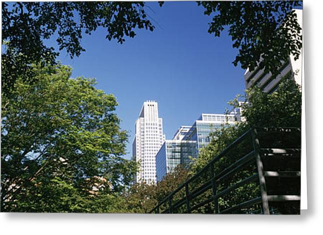 Buildings In A City, Qwest Building Greeting Card