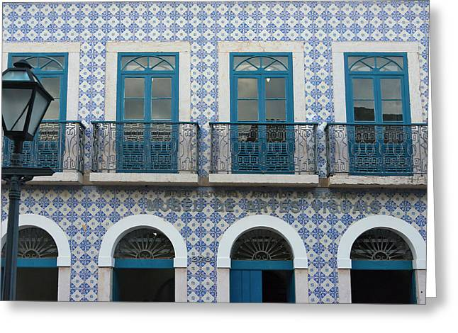 Buildings In Historic Center Of Sao Greeting Card