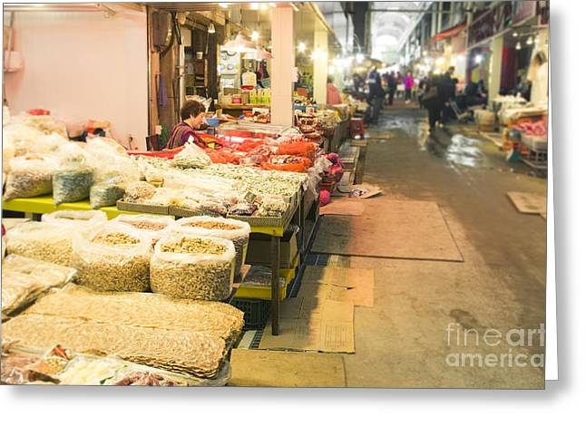 Bujeon Market In Busan Greeting Card by Tuimages