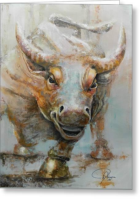 Bull Market W Redo Greeting Card