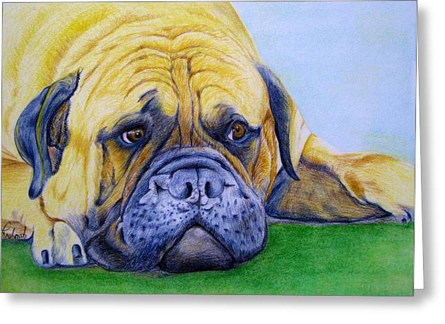 Bulldog Greeting Card by Prashant Shah