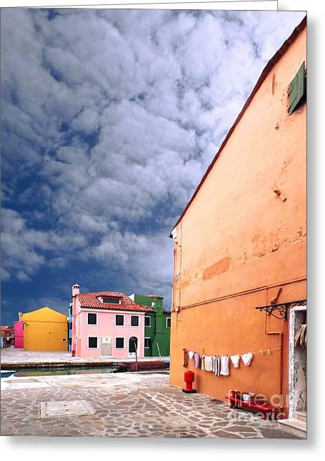 Burano 07 Greeting Card by Giorgio Darrigo