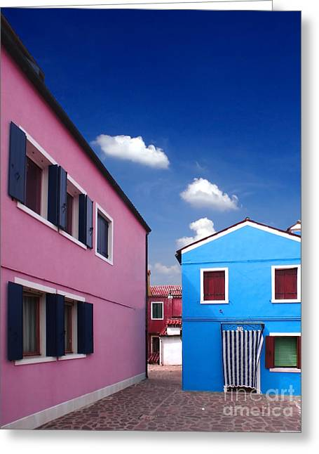 Burano 08 Greeting Card by Giorgio Darrigo