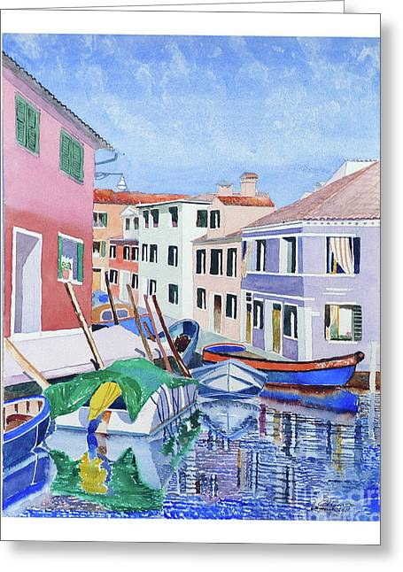 Burano Venice Greeting Card