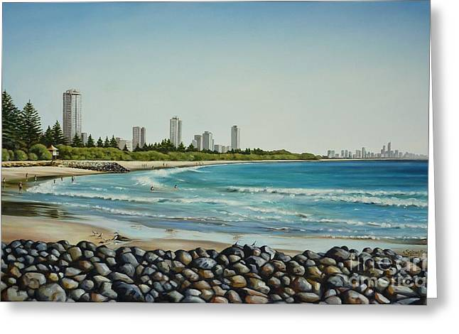Burleigh Beach 210808 Greeting Card by Selena Boron