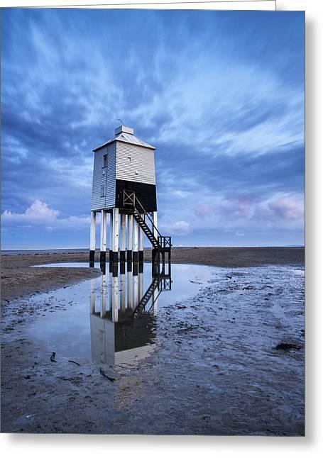 Burnham Lighthouse Landscape Image Sunrise Summer Greeting Card