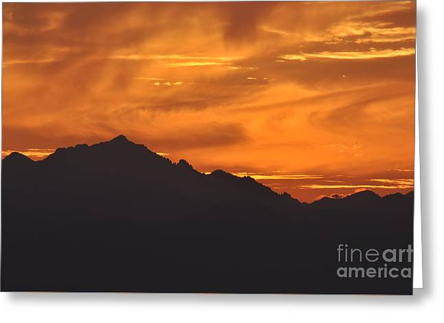 Burning Sky Greeting Card