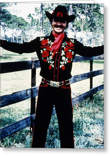 Burt Reynolds In Smokey And The Bandit  Greeting Card by Silver Screen
