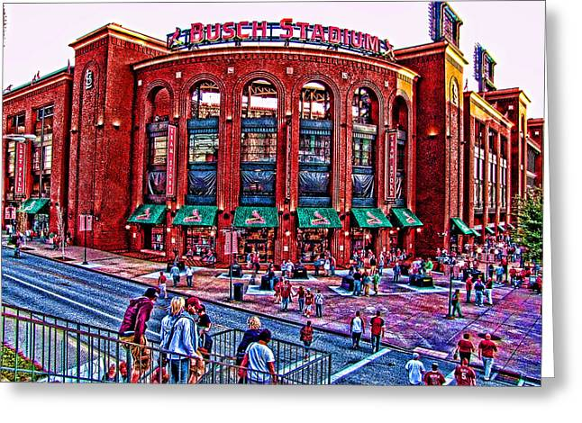 Busch Stadium Greeting Card