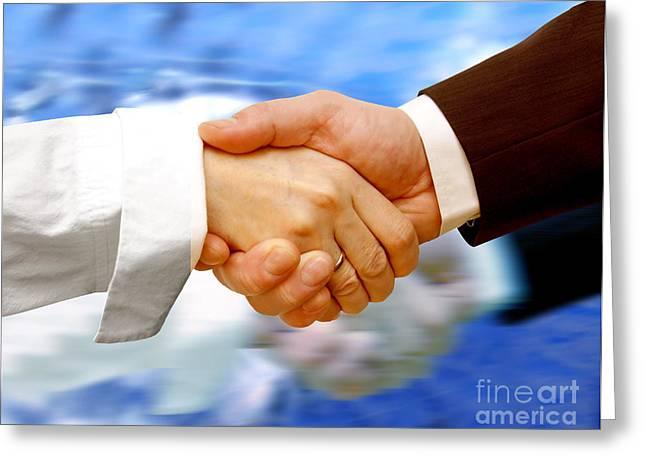 Business Handshake Greeting Card
