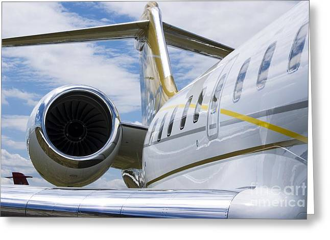 Business Jet Greeting Card by Mark Williamson