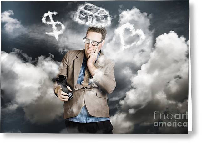 Business Man Planning Work Life Balance Strategy Greeting Card by Jorgo Photography - Wall Art Gallery