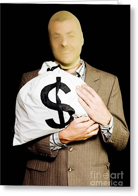 Business Or White-collar Thief Greeting Card by Jorgo Photography - Wall Art Gallery