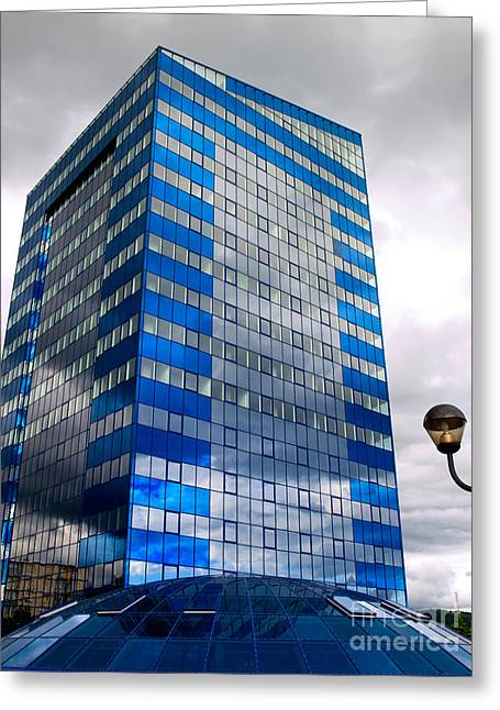 Business Tower Greeting Card by Sinisa Botas