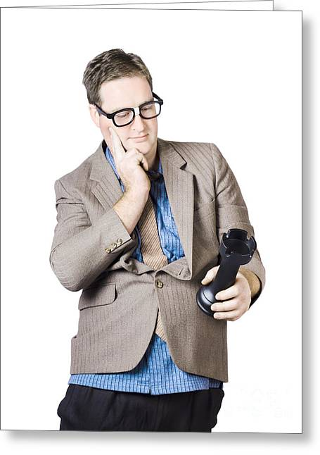 Businessman Holding Rook Greeting Card