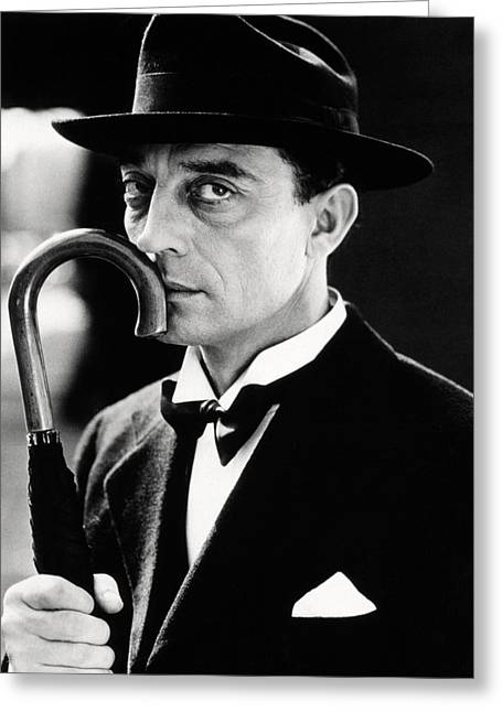 Buster Keaton Greeting Card by Silver Screen