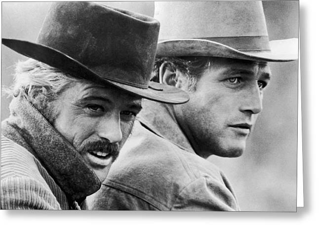 Butch Cassidy And The Sundance Kid Greeting Card by Georgia Fowler