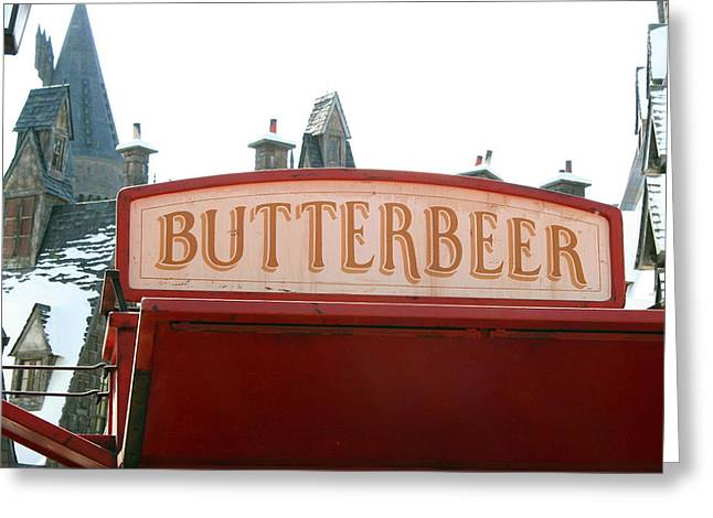 Butterbeer Sign Greeting Card