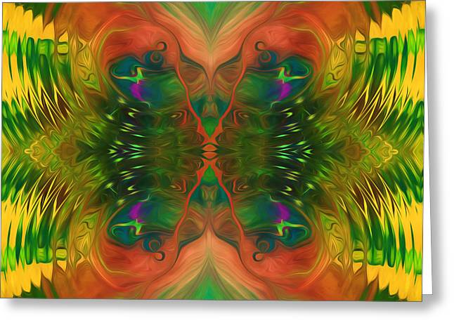 Butterfly Matrix Greeting Card