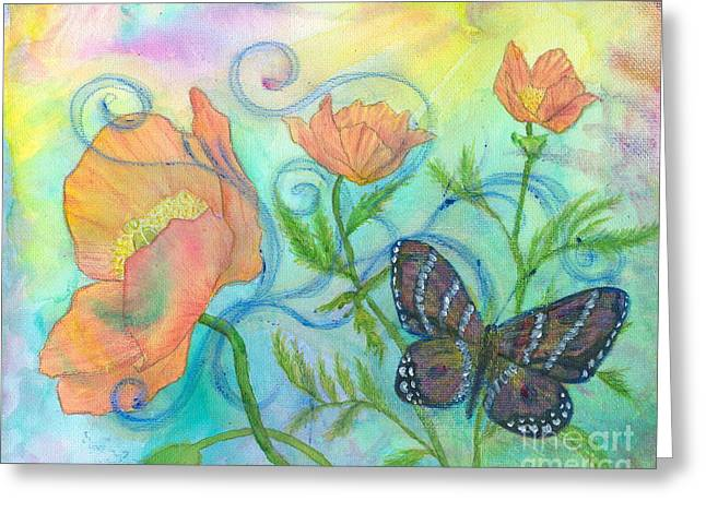 Butterfly Reclaimed Greeting Card
