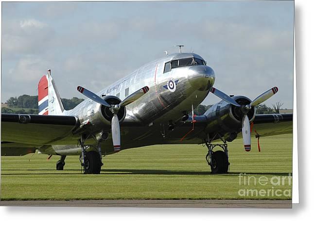 C-47 Dakota In Norwegian Colours Greeting Card